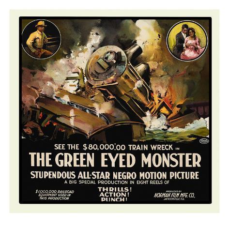 The Green Eyed Monster Art Print