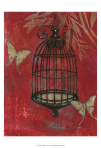 Asian Bird Cage I Art Print