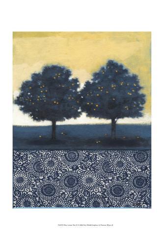 Blue Lemon Tree II Art Print