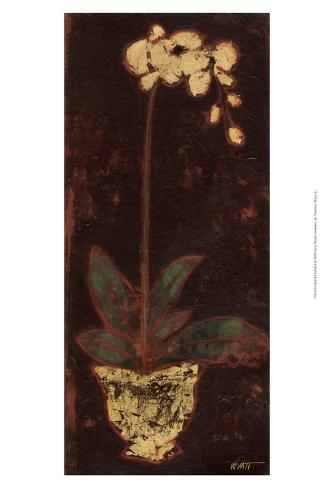 Gilded Orchid I Art Print
