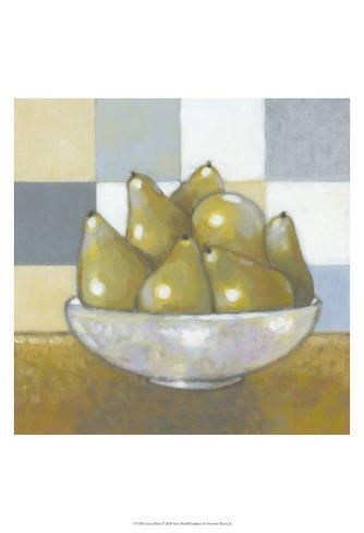 Green Pears Art Print