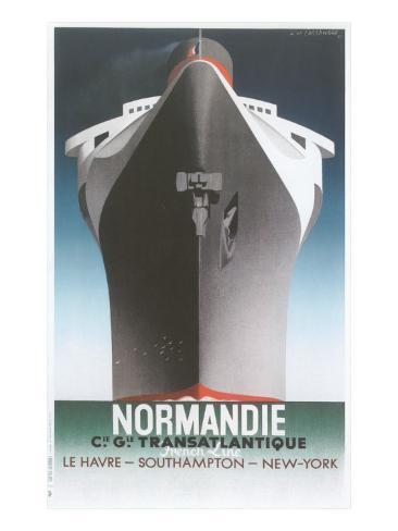 Normandie Ocean Liner Art Print