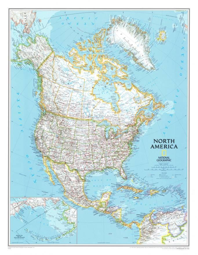 north america political map print at allposters com