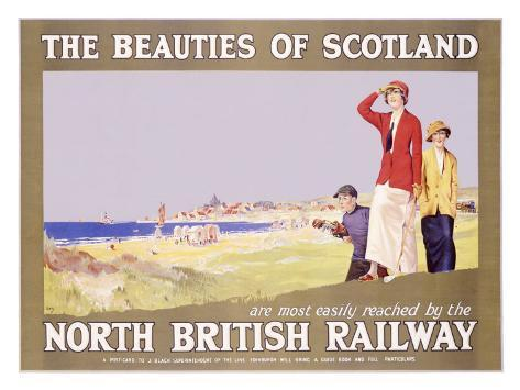 North British Railway, Golf in Scotland Giclee Print