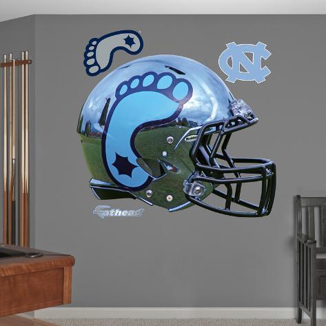 North Carolina Tar Heels Chrome Helmet Wall Decal Sticker Wall Decal