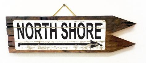 North Shore Vintage Wood Sign