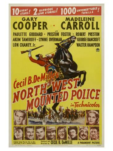 North West Mounted Police, 1940 Premium Giclee Print
