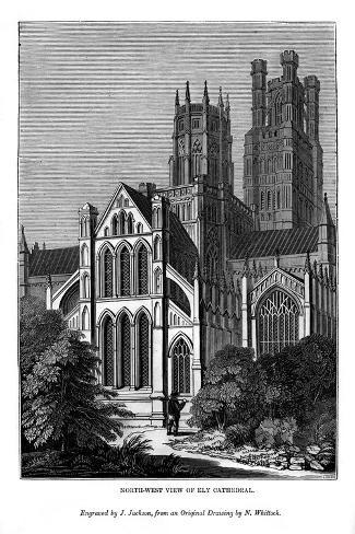 North West View of Ely Cathedral, 1843 Giclee Print