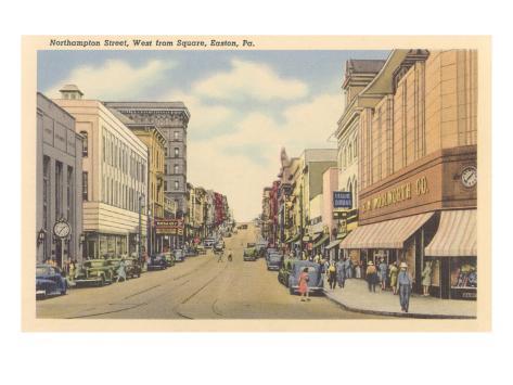 Northamptom Street, Easton, Pennsylvania Art Print