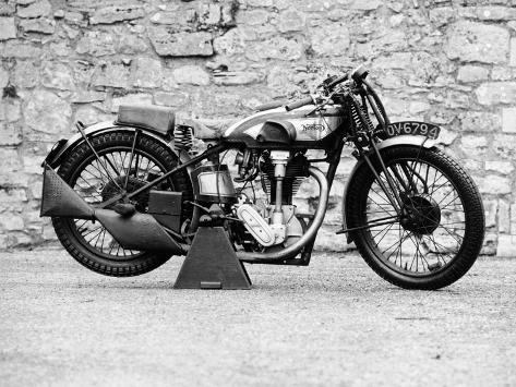 Norton Motorbike, an International Model 30, 1932 Stampa fotografica