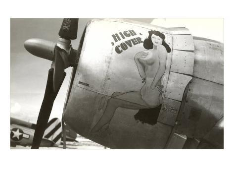 Nose Art, High Cover, Pin-Up Art Print