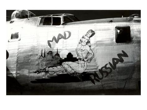 Nose Art, Mad Russian, Pin-Up Art Print