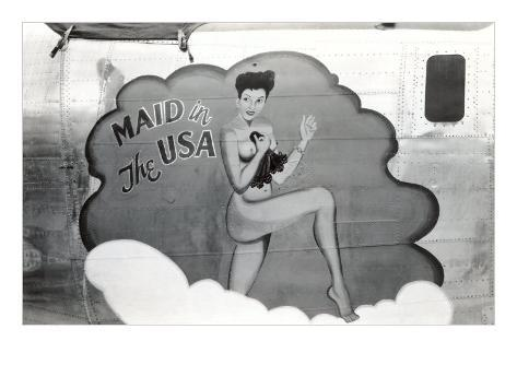 Nose Art, Maid in USA Pin-Up Art Print
