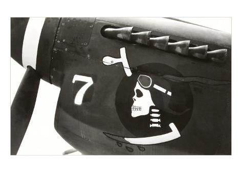 Nose Art, Skull with Goggles Art Print