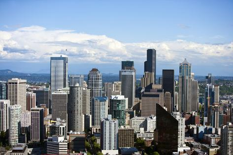 View from Space Needle, Southeast to Financial District of Seattle Photographic Print