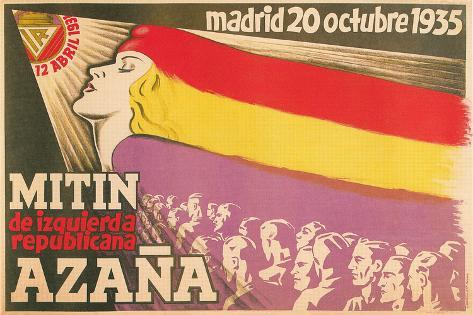 Notice of Meeting for Spanish Republicans Stampa artistica