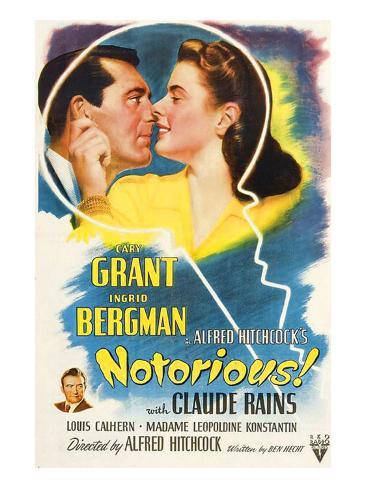 Notorious, Cary Grant, Ingrid Bergman, Claude Rains, 1946 Photo