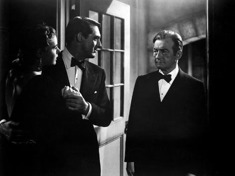Notorious, Ingrid Bergman, Cary Grant, Claude Rains, 1946 Photo