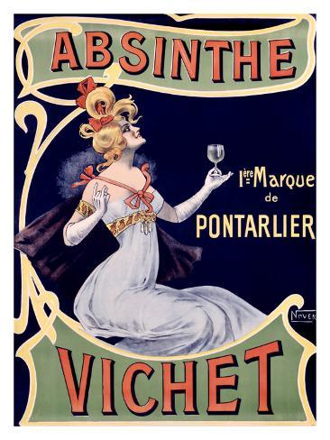 absinthe vichet giclee print by nover. Black Bedroom Furniture Sets. Home Design Ideas
