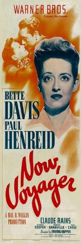 NOW, VOYAGER, top from left: Bette Davis, Paul Henreid, bottom: Bette Davis, 1942 Impressão artística