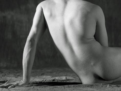 Nude Back of Sensual Man Photographic Print