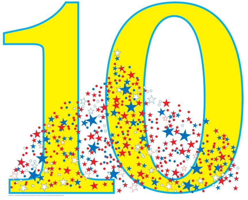 number 10 birthday party lifesize standup cardboard cutouts at