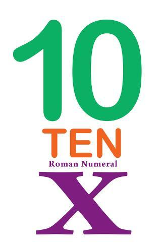 Number 10 with Roman Numeral Banner Taidevedos
