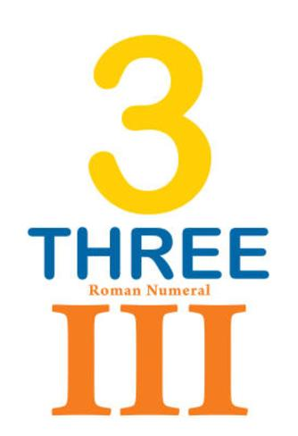 Number 3 Sign with Roman Numeral Banner Poster Masterprint