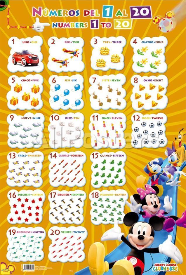 オールポスターズの numeros del 1 al 20 mickey アートポスター