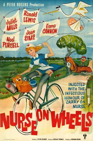 Nurse on Wheels Art Print