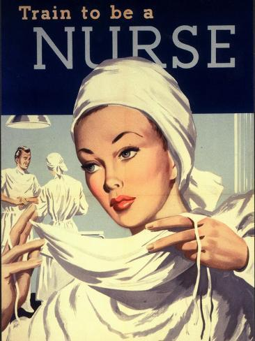 Nurses and Hospitals, UK, 1950 Giclee Print