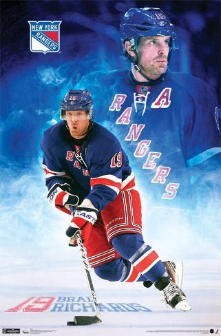 NY Rangers - B Richards 2011 Poster