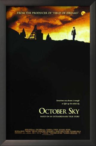 O Céu de Outubro Impressão artística emoldurada