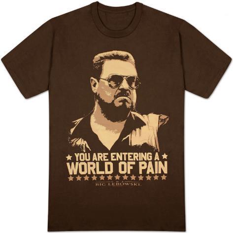 O Grande Lebowski - Mundo de Dor Camiseta