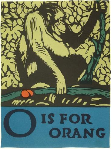 O is for Orang Art Print