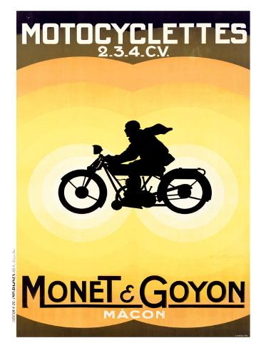 Monet and Goyon Giclee Print