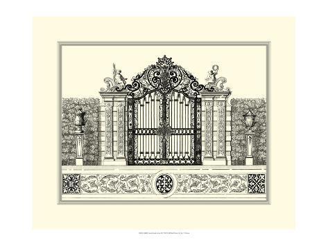 B&W Grand Garden Gate II Art Print