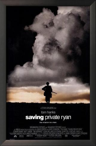 O Resgate do Soldado Ryan, em inglês Impressão artística emoldurada