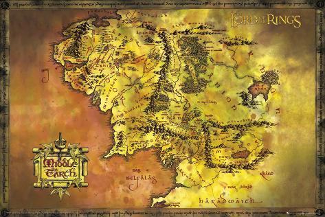 mapa senhor dos aneis O Senhor dos Anéis, mapa clássico Pôsters na AllPosters.com.br mapa senhor dos aneis