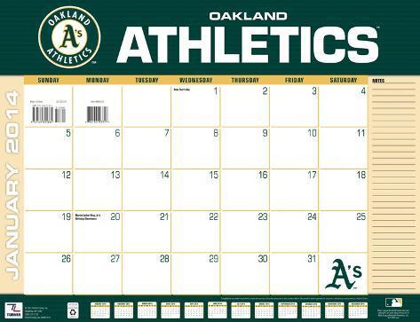 Oakland Athletics - 2014 Desk Calendar Calendars