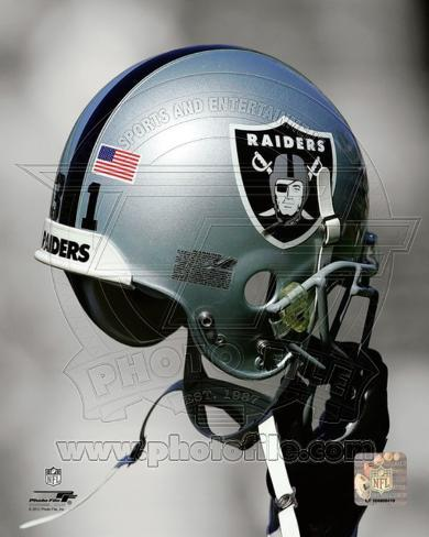 Oakland Raiders Helmet Spotlight Photo