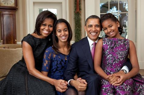 Obama Family Portrait, Dec. 11, 2011. Photo