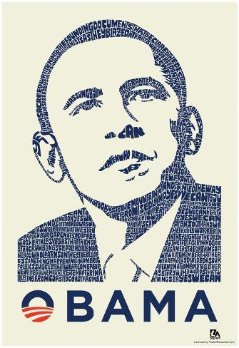 Obama Yes We Can Speech Text Poster Prints Allposters Com
