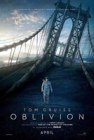 Oblivion (Tom Cruise, Morgan Freeman, Andera Riseborough) Movie Poster Impressão original