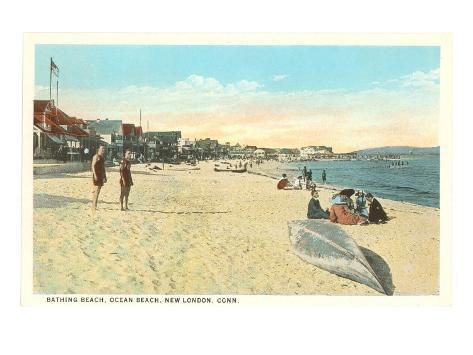 Ocean Beach, New London, Connecticut Art Print