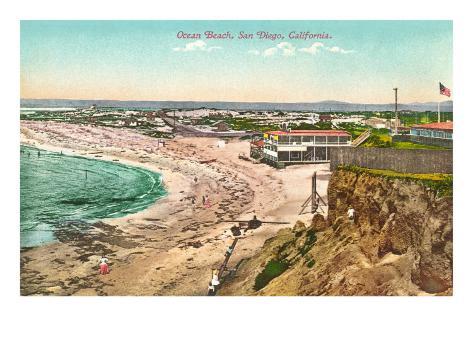 Ocean Beach, San Diego, California Art Print