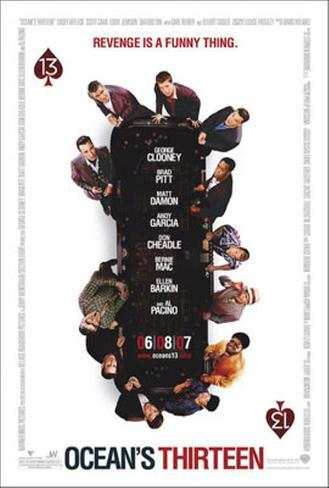 Ocean's Thirteen Double-sided poster