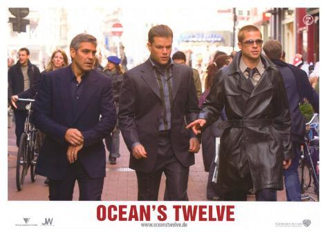 Ocean's Twelve, French Movie Poster, 2004 Stretched Canvas Print