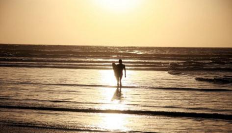 Ocean (Surfer and the Sea) Art Poster Print Masterprint