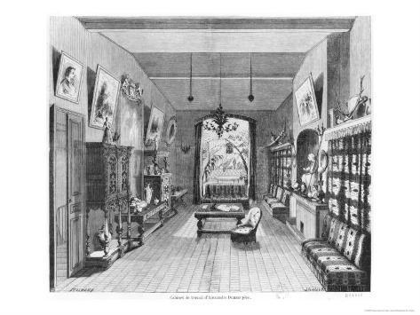 Study of Alexandre Dumas Pere Giclee Print